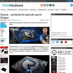 Ozone Gaming - tapis de souris Origen