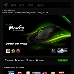 Razer | For Gamers. By Gamers.™ | Online Store - Razer Mamba™ Wireless Laser Gaming Mouse | Gaming-Grade Wireless Technology | Dual Mode Wired/Wireless Functionality | Razer Synapse™ Onboard Memory | Charging Dock | Buy Online