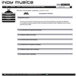 Les gammes - Les gammes mineurs - les cours de guitare - Indy Musics