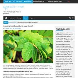 Gamot sa Buni: Kamot Ka Ba nang Kamot? – Mataba Ako! – Health Tips