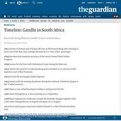 Gandhi in South Africa: timeline | World news