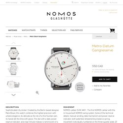 Beautiful watches purchased online. Directly from NOMOS Glashütte.