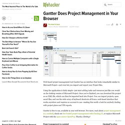 Gantter Does Project Management in Your Browser - Project