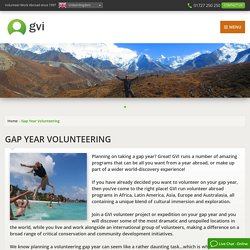 Gap Year Volunteering