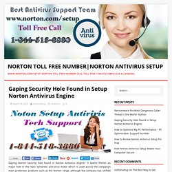 Gaping Security Hole Found in Setup Norton Antivirus Engine
