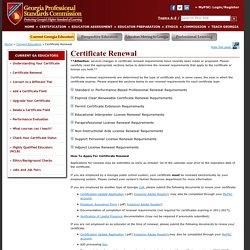 GaPSC - Certificate Renewal