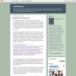 Sulphur Foods and Mercury