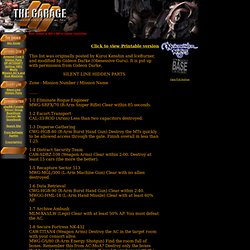 The Garage: Armored Core Series Fan Site (v2.3)