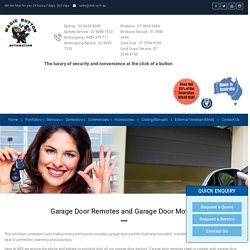 Garage Door Motors Installation Service in Australia
