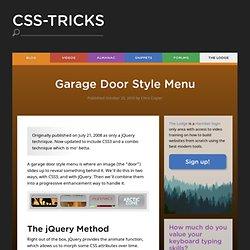 Garage Door Style Menu