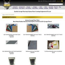 Rubber Garage Flooring and Mats - ArmorGarage Inc.