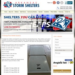 Garage Floor Storm Shelter Systems