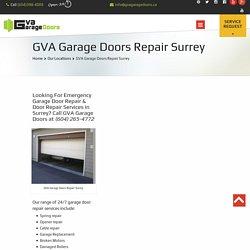 Garage Door Repair Surrey. Service, Installation.