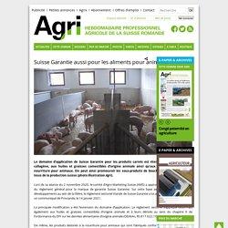 AGRIHEBDO_CH 14/01/21 Suisse Garantie aussi pour les aliments pour animaux