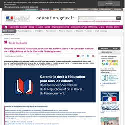 Garantir le droit à l'éducation pour tous les enfants