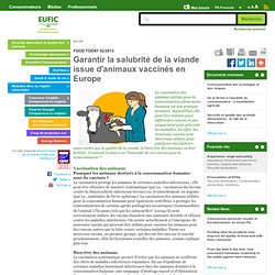 EUFIC - FEV 2013 - Garantir la salubrité de la viande issue d'animaux vaccinés en Europe
