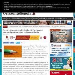 Organici. 1200 posti in più in Puglia, Uil: è un punto di partenza. Garantito regolare avvio anno scolastico - Orizzonte Scuola
