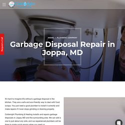 Garbage Disposal Repair and Installation in Joppa, MD