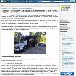 Garbage Disposal by Junk Removal Services in Wake Forest