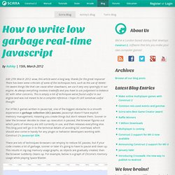 How to write low garbage real-time Javascript