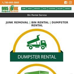 Garbage Bin Rental Edmonton
