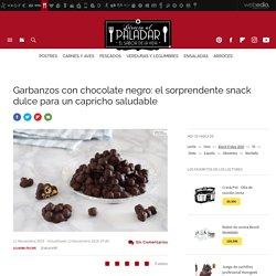 Garbanzos con chocolate negro. Receta de postre fácil y sencilla