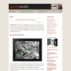 García Media | The iPad: show me the money time