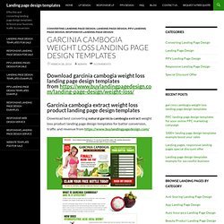 garcinia cambogia weight loss landing page design templates