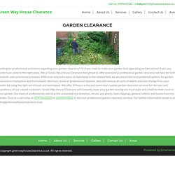 Garden Clearance Portsmouth - Green way House Clearance