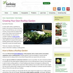 Roof Garden Design – How To Build A Rooftop Garden