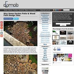 Nice Home Garden Patio & Wood Path Design Idea