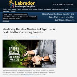 Ideal Garden Soil Type to Use for Gardening Projects