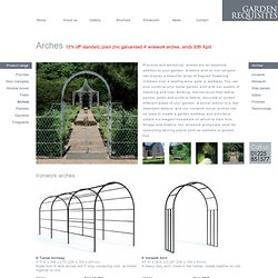 Garden arch and metal garden arches