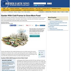 Garden With Cold Frames to Grow More Food