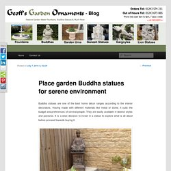 Garden Buddha Statues available at online store