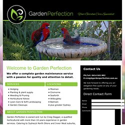 Garden Perfection | Garden Maintenance, North Shore of Sydney