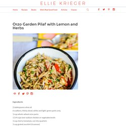 Orzo Garden Pilaf with Lemon and Herbs - Ellie Krieger