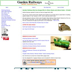Garden Railways Narrow Gauge Kits in 15mm Scale and 16mm Scales - G Scale