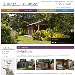 Garden Rooms, Garden Offices and Garden Studios