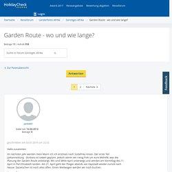 Garden Route - wo und wie lange?