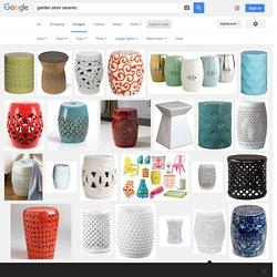 garden stool ceramic