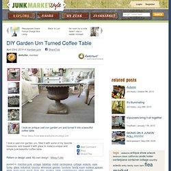 DIY Garden Urn Turned Coffee Table
