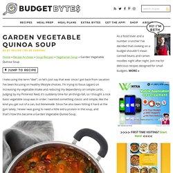Garden Vegetable Quinoa Soup - Vegan