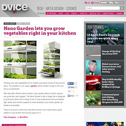 Nano Garden lets you grow vegetables right in your kitchen