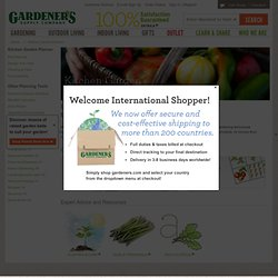 Gardener's Supply Kitchen Garden Planner, planting map | Grow Your Own Vegetables