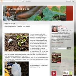 The Gardener's Spot: Using Milk Jugs For Watering Your Garden