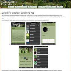 Gardeners Calendar - Gardening App for Android Phones
