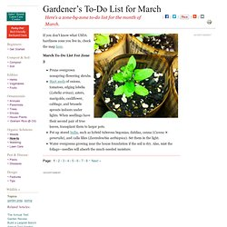 Zone by zone to-do list for gardeners in March