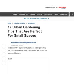 17 Great Urban Gardening Tips For Apartment Balconies & Small Spaces