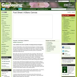 Gardening Australia - Fact Sheet: A Blanc Canvas